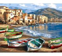 "Картина по номерам ""Лодки на берегу"" 40х50 см (GX4812)"