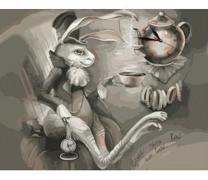 "Colibri Картина по номерам ""Чаепитие с Белым кроликом"" 40х50 см (VA-0783)"