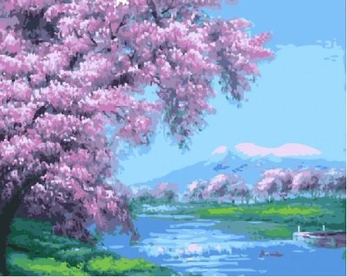"Paintboy Картина по номерам ""Сакура над рекой"" 40х50 см (G113)"