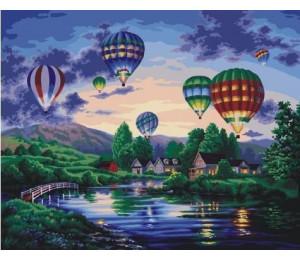"RADUGA Картина по номерам ""Воздушные шары"" 40х50 см (G233)"