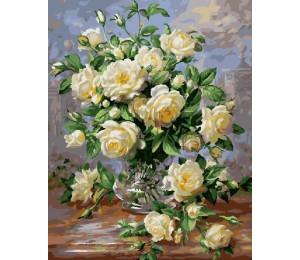 G439 Букет белых роз