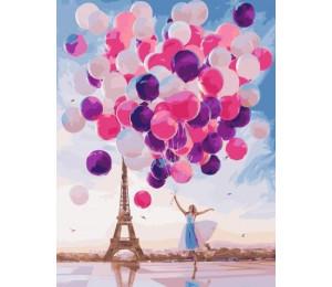 "RADUGA Картина по номерам ""Воздушные шары""  40х50 см (G551)"