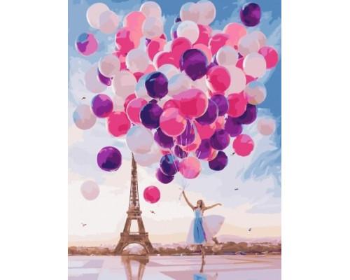 """Картина по номерам """"Воздушные шары""""  40х50 см (G551)"""