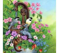 """RADUGA Картина по номерам """"Птички и бурундук"""" 40х50 см (GX21482)"""