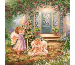 GX21566 Ангелочки в саду