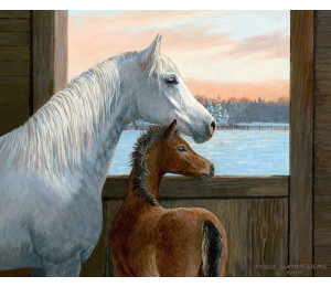 GX21630 Лошадь с жеребенком