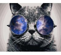 """Картина по номерам """"Кот в очках"""" 40х50 см (GX21679)"""