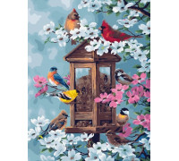 "Картина по номерам ""Весенние певцы"" 40х50 см (GX21856)"