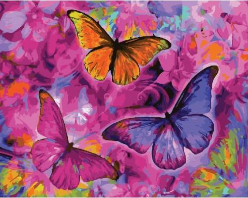 "RADUGA Картина по номерам ""Бабочки"" 40х50 см (GX22267)"