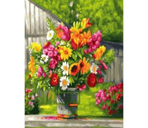 Картина по номерам «Яркий букет полевых цветов»