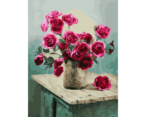 "Paintboy Картина по номерам ""Розы на тумбочке""  40х50 см (GX22758)"