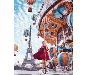 "Картина по номерам ""Карусель в Париже"" 40х50 см (GX22860)"