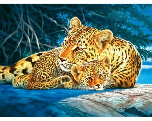 GX23059 Леопард с малышом