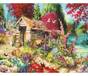 "Paintboy Картина по номерам ""Избушка в цветах"" 40х50 см (GX25053)"