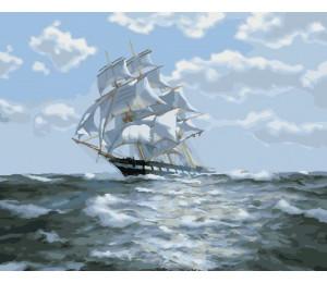 Картина по номерам «На всех парусах»