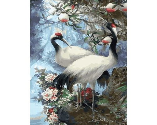 "Картина по номерам ""Японские журавли"" 40х50 см (GX29399)"