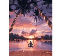 """Картина по номерам """"Закат в раю"""" 40х50 см (GX29710)"""