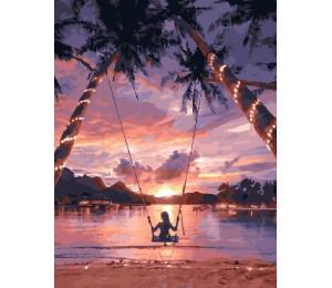 """RADUGA Картина по номерам """"Закат в раю"""" 40х50 см (GX29710)"""