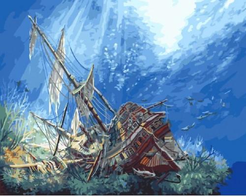 """Paintboy Картина по номерам """"Затонувший корабль"""" 40х50 см (GX3621)"""