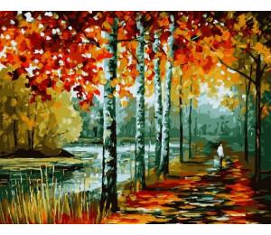 Картина по номерам «Осенние берёзы»