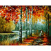 """Paintboy Картина по номерам """"Осенние берёзы"""" 40х50 см (GX3953)"""