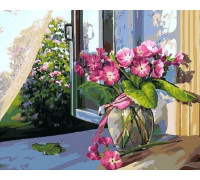 "RADUGA Картина по номерам ""Незабудки на окне"" 40х50 см (GX5200)"