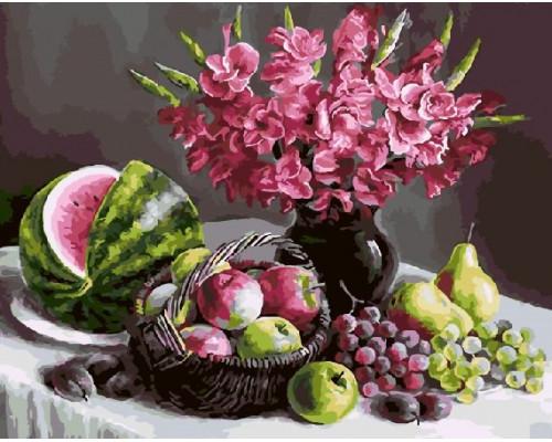 "RADUGA Картина по номерам ""Цветы и фрукты"" 40х50 см (GX5441)"