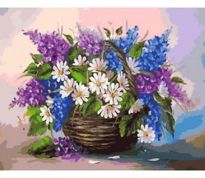 "RADUGA Картина по номерам ""Ромашки и серень"" 40х50 см (GX5801)"