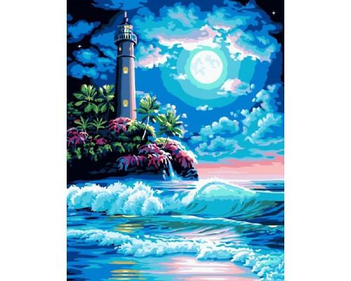 "Paintboy Картина по номерам ""Ночной маяк"" 40х50 см (GX6168)"