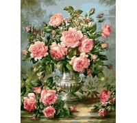 Картина по номерам 40х50 см GX9447 Букет английских роз