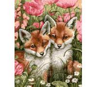 "Картина по номерам ""Два лисенка"" 40х50 см (GX9546)"