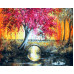 Картина по номерам «Лиловое дерево»