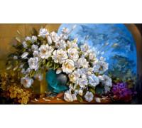 "RADUGA Картина по номерам ""Белые розы"" 40х50 см (RDG-0053)"