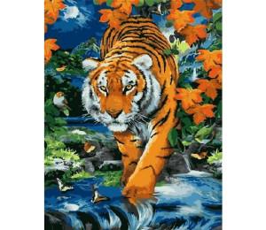 Картина по номерам 40х50 см RDG-0404 Полосатый хищник