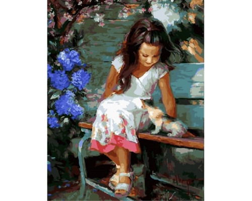 RDG-0433 Девочка и котенок