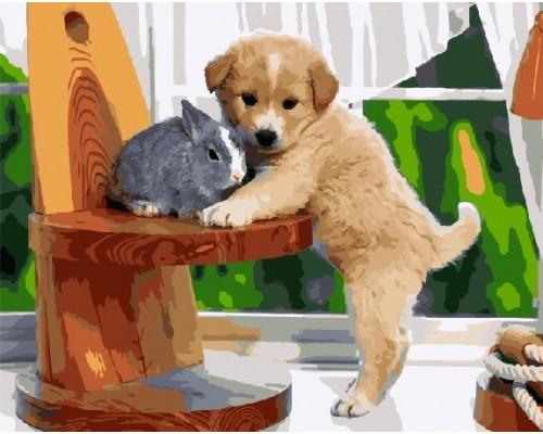 RDG-0441 Щенок и кролик