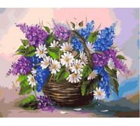 Картина по номерам 40х50 см RDG-0703 Сирень и ромашки