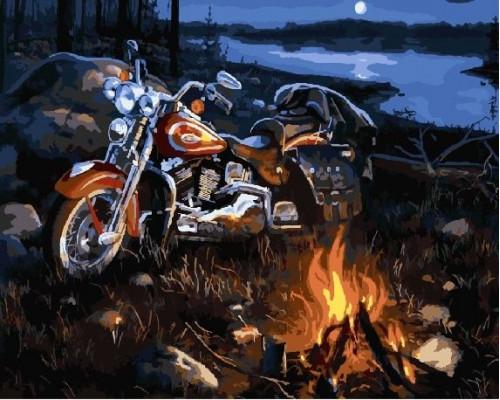 RDG-1238 Мотоцикл у ночного костра
