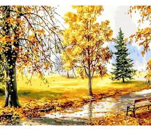 "RADUGA Картина по номерам ""Осень в парке"" 40х50 см (RDG-1641)"