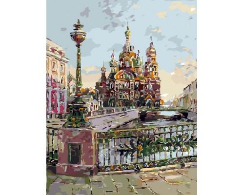 """Картина по номерам """"Театральный мост (Санкт-Петербург)"""" 40х50 см (RDG-1688)"""