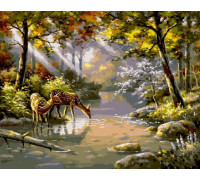 Картина по номерам 40х50 см RDG-1698 На водопое