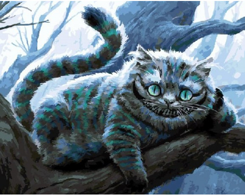 "RADUGA Картина по номерам ""Чеширский кот на ветке"" 40х50 см (RDG-1935)"