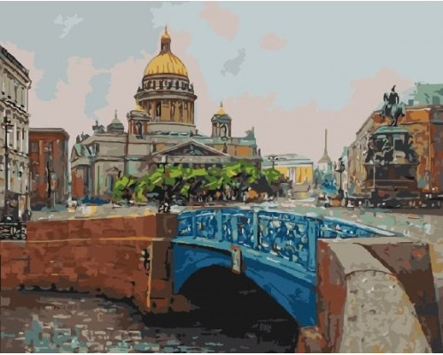 RDG-2323 Вид с синего моста на Исаакиевский собор (Санкт-Петербург)