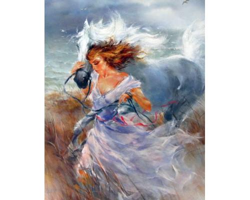 RDG-2357 Девушка с лошадью