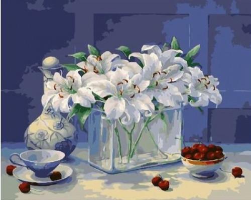 """Картина по номерам """"Лилии и вишни"""" 40х50 см (RDG-2444)"""