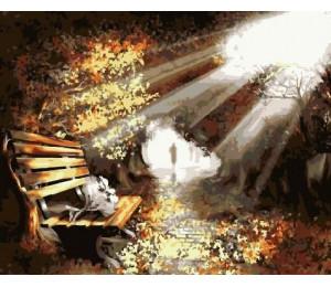 "RADUGA Картина по номерам ""Скамейка в лучах солнца"" 40х50 см (RDG-2477)"