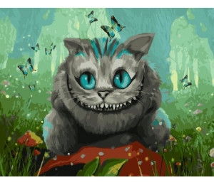 "RADUGA Картина по номерам ""Чеширский кот"" 40х50 см (RDG-2650)"