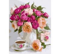 """RADUGA Картина по номерам """"Розы и кофе"""" 40х50 см (RDG-3429)"""