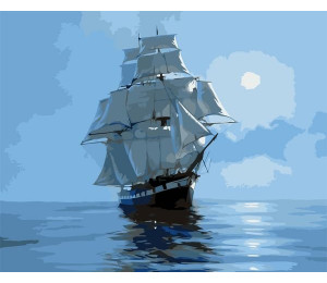"Colibri Картина по номерам ""Корабль с белыми парусами"" 40х50 см (VA-0260)"