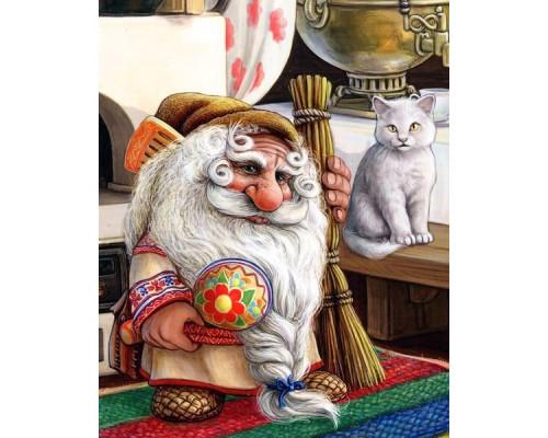 Картина по номерам «Домовой и кот»